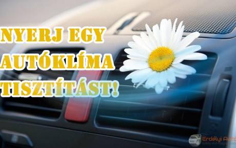 Autóklíma tisztítás ózonnal + nyereményjáték!